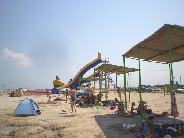 Портовое, пляж