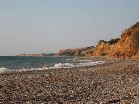 Пляж. Любимовка, Крым.