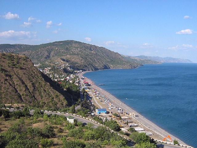 Рыбачье пляж Крым
