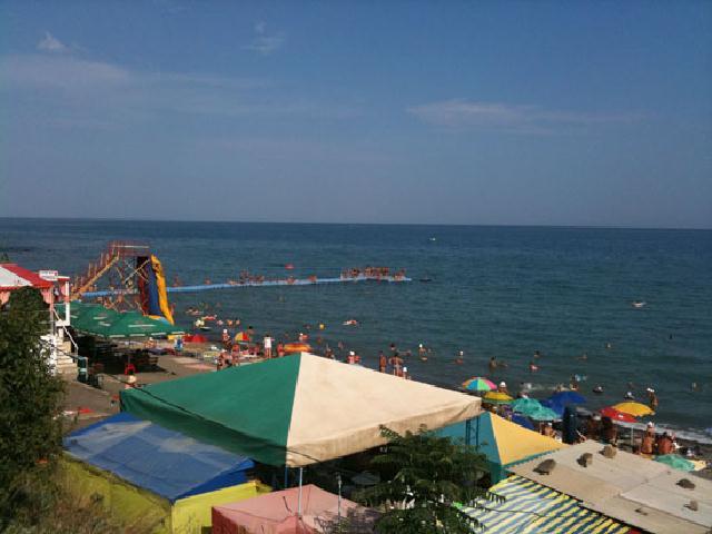 Солнечногорское пляж Крым