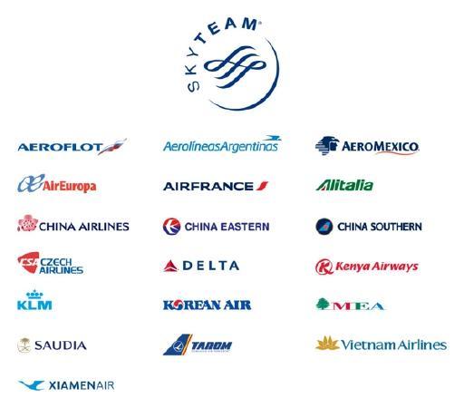 Новый, 19-ый член SkyTeam. Авиакомпании и авиаперелеты.