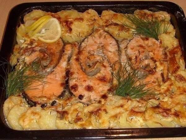 Рецепт рыбы в духовке. Рецепты.
