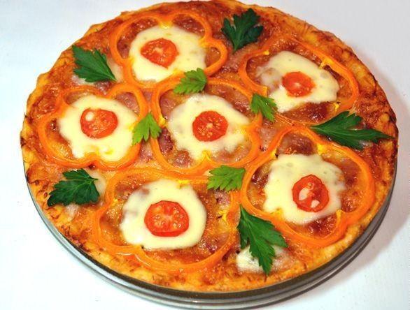 Рецепт пиццы с колбасой. Рецепты.