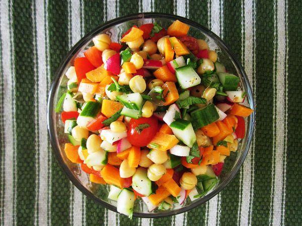 Овощное жаркое с нутом. Рецепты.