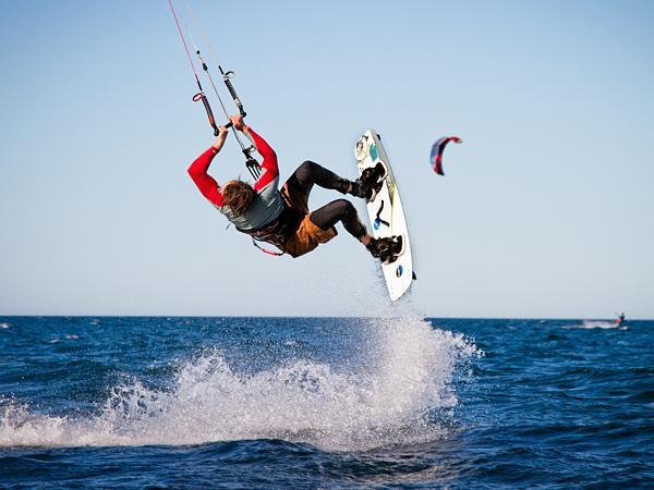 Кайт боди-серфинг. Активный отдых.