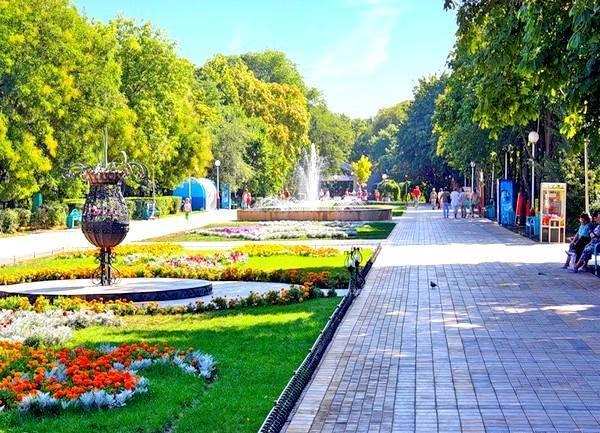 Парки города Ейска. Ейск.