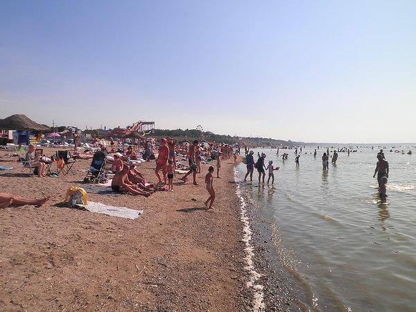 Детский пляж. Пляжи города Ейска. Ейск.