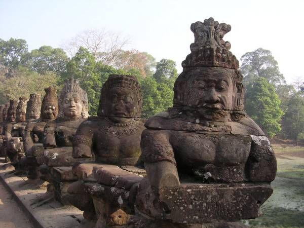 Красота и величие храма Камбоджи — Ангкор Ват. Камбоджа
